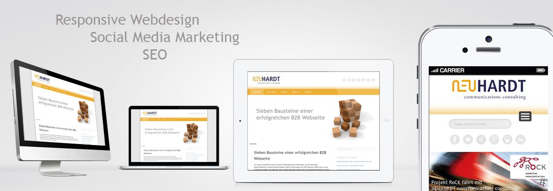 NEUHARDT communications consulting - Responsive Webdesign