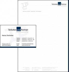 Terlutter Rechtsanwaltsgeschaft - Geschäftsausstattung und Visitenkartendesign